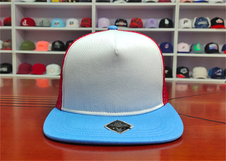 ACE Creative Multispandex Blue Bill Custom Logo Color Baseball Trucker Mesh Cap Hat