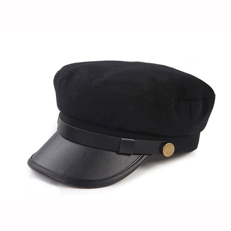 Plain Military Peaked Cap / Short Brim Military Cap 56-60cm Size Eco Friendly