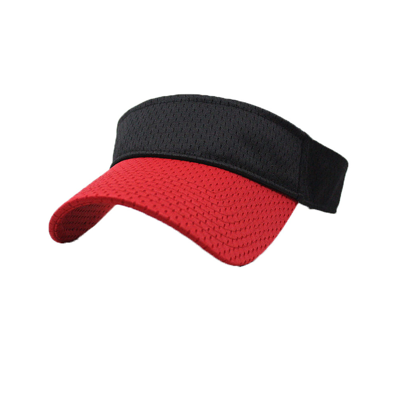 100% Polyester Premium Sun Visor Cap Multi Panel Hat OEM / ODM Available