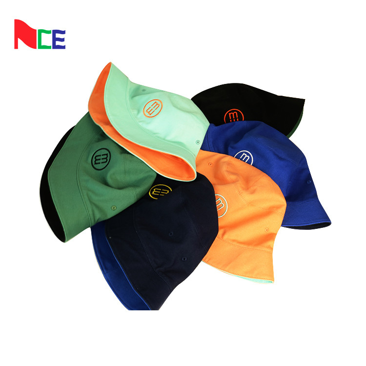 Double Sided Fisherman Bucket Hat With Embroidery Tag Pantone Color Card