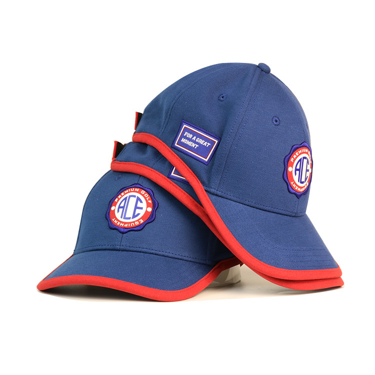 Customizable Blue Embroidered Baseball Caps Sports Caps With Embroidered Patch